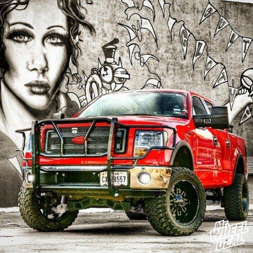 """20x10"""" Black Havok H103 wheels on a 2013 Ford F-150"""