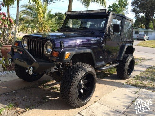 20x12 Fuel Off-Road Octane wheels on a 1998 Jeep Wrangler