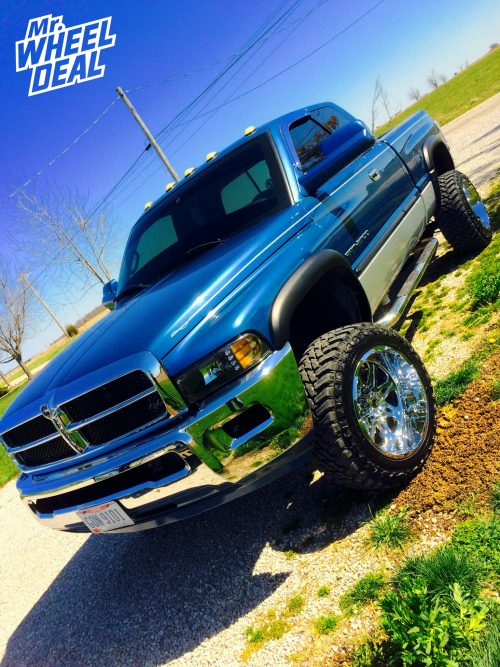 """20"""" Hostile Havoc H102 Armour Plated wheels with LT33x12.50R20 Atturo Trail Blade MT tires on a 2002 Ram 2500"""