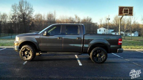 2005 Ford F-150 with 20x9 XD Monster Matte Black wheels with LT275/60R20 BF Goodrich All-Terrain T/A KO2 tires