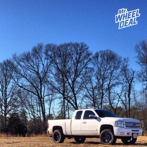 "20x10"" BMF Novakane Death Metal Wheels with LT295/55/20 Nitto Trail Grappler Tires on a 2012 Chevy Silverado 1500"