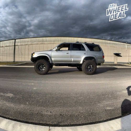 2000 Toyota 4 Runner with 17x10 Fuel Maverick Black Milled wheels