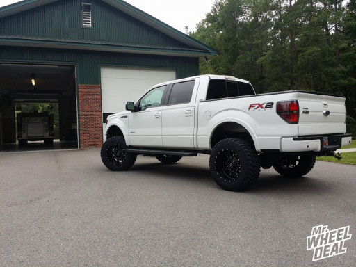 20x12 Fuel Offroad Krank wheels with 35X12.50R20 Nitto Trail Grappler tires on a 2013 Ford F-150