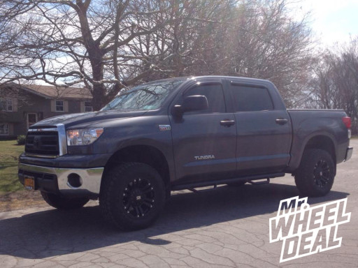 """18x9"""" XD Monster Wheels with LT285/65/18 Toyo Open Country AT II Tires on a 2013 Toyota Tundra"""