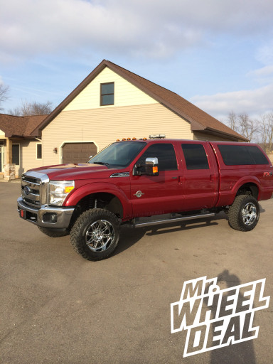 """20x10"""" Hostile Off-Road Havoc Wheels on a 2013 Ford F-350"""