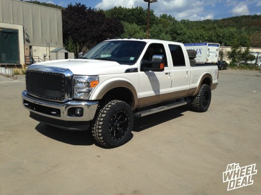 20x10 Fuel Offroad Maverick Black Milled wheels with 35x12.50x20 Federal Couragia MT tires on a 2014 Ford F250