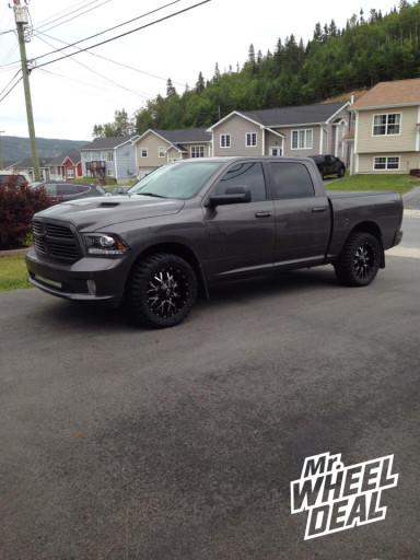2012 Ram 1500 with 20x9 Dropstars Monster Energy Edition 645MB wheels with 33x12.50x20 Federal Couragia MT tires