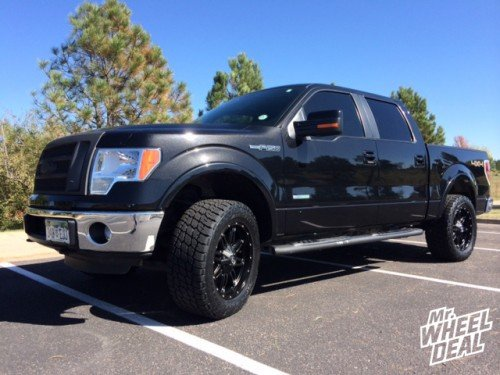 "20x9"" Fuel Off-Road Hostage +20mm wheels with LT305/55/20 Nitto Terra Grappler tires on a 2011 Ford F-150"