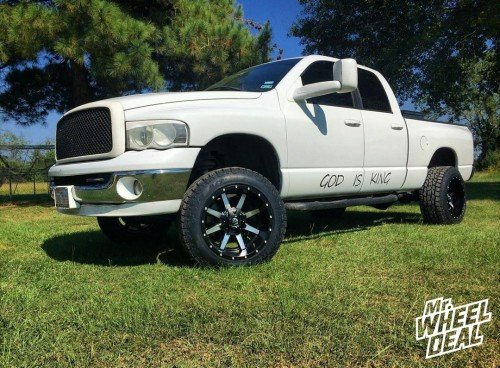 20x12 Fuel Offroad Maverick wheels with LT285/55/20 Toyo Open Country ATII tires on a 2005 Ram 1500