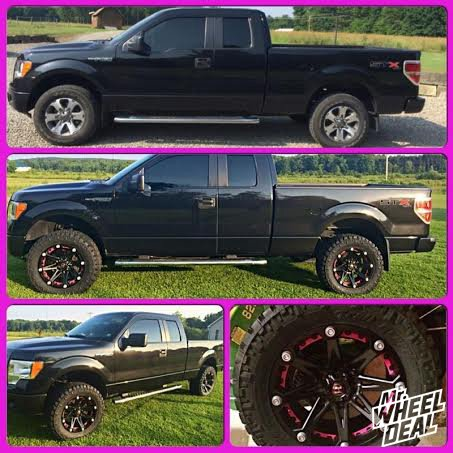 305/55/20 Nitto Trail Grappler Tires  with 20x9 Ballistic Jester Black Wheels on a 2012 Ford F-150