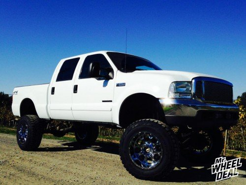 2002 Ford F250 with 20x12 Fuel Off-Road Krank wheels and 37x12.50x20 Toyo Open Country RT tires