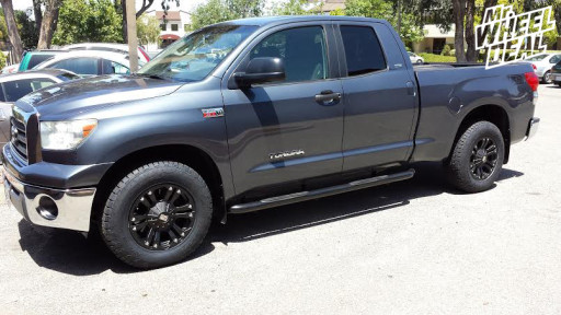 18x9 XD Monster Black Wheels with 275/65/18 Nitto Terra Grappler Tires on a 2007 Tundra