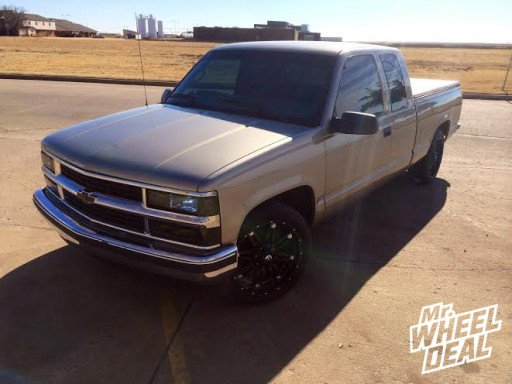 "20x9"" Fuel Off-Road Hostage Wheels with 255/45/20 Toyo Proxes ST II Tires on a 1998 Chevy C-1500"