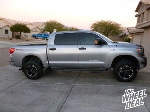"18"" Black/Machined Ballistic Wizard Wheels on a 2010 Toyota Tundra"