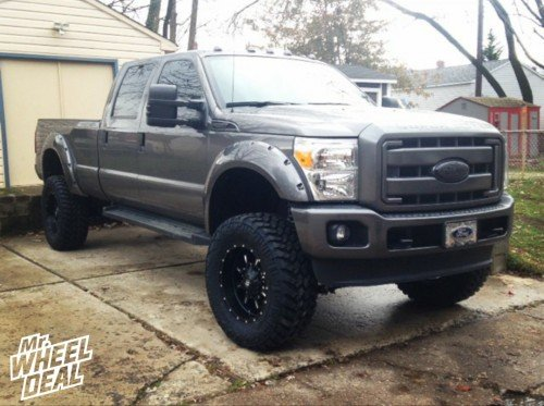 """2013 Ford F-250 with a 6"""" lift with 20x10 Fuel Off-Road Krank -24mm and 37x13.50x20 Nitto Trail Grappler Grappler tires"""