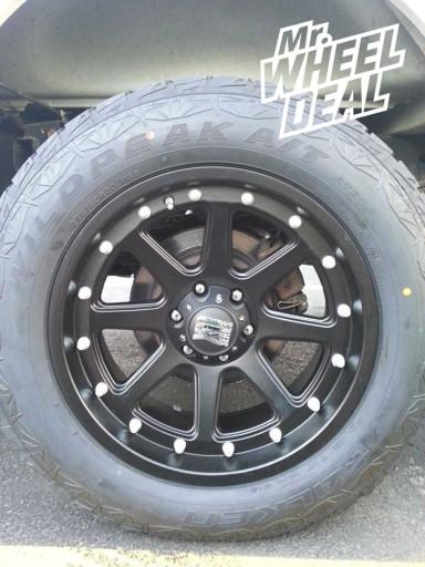 "20x9"" KMC XD Series Addict Wheels with 275/60/20 Falken Wild Peak AT Tires"