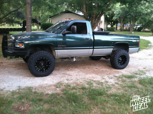 18x12 Fuel Hostage wheels with 35X12.50R18 Nitto Trail Grappler tires on a 2001 RAM 2500