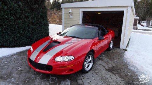 "17x9"" Torq Thrust M chrome +45mm wheels on a 1998 Chevy Camaro"