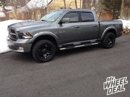 "20x10"" XD Rockstar Black Wheels on a 2009 Ram 1500"