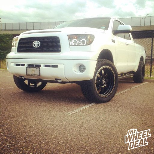 """22x9.5"""" Fuel Off-Road Trophy Wheels with P305/45/22 Nitto Terra Grappler Tires on a 2007 Toyota Tundra"""