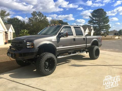 22x14 Fuel Hostage with 37x13.50x22 Toyo Open Country RT on a 2007 Ford F-250