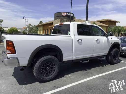 2018 Ram 2500 with 18x9 +18mm Gray Method Grid wheels and 35x12.50R18LT Toyo Open Country RT tires