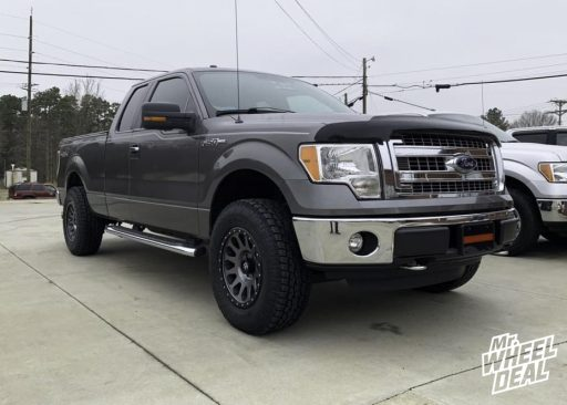 2014 Ford F-150 with 18x9 +1mm Gray Black Fuel Vector wheels and LT275/70R18 Toyo Open Country A/T II tires