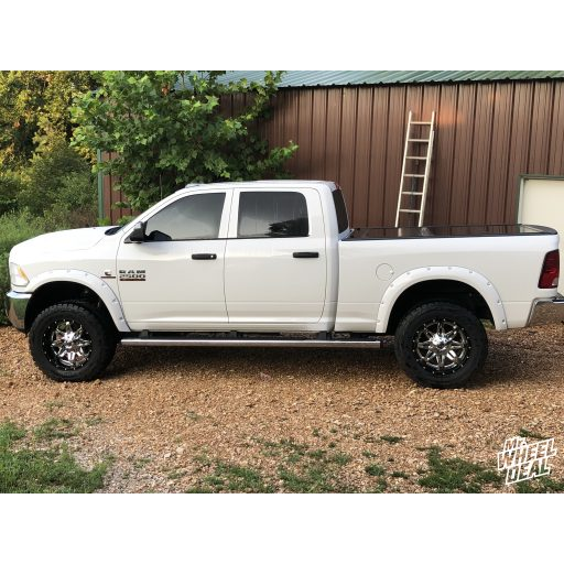 """2018 Ram 2500 with 20x10"""" Chrome Fuel Lethal wheels with 35X12.50R20LT Toyo Open Country RT tires"""
