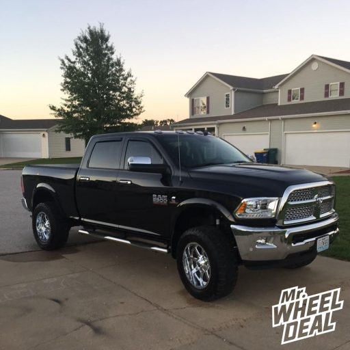 2018 Ram 2500 with 20x10 Fuel Offroad Maverick -12mm Chrome wheels with 35x12.50R20LT Toyo Open Country RT tires