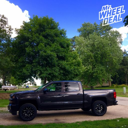 """2016 Chevy Silverado 1500 with 20x10"""" Fuel Off-Road Lethal wheels and 33x12.50R20 Atturo Trail Blade MT tires"""