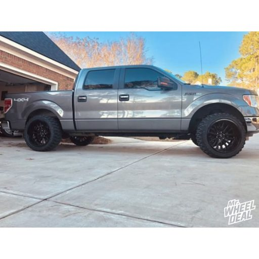 2013 Ford F-150 with 22x12 V-Rock Anvil Black -44mm wheels and 33x12.50R22 Federal Xplora MT tires