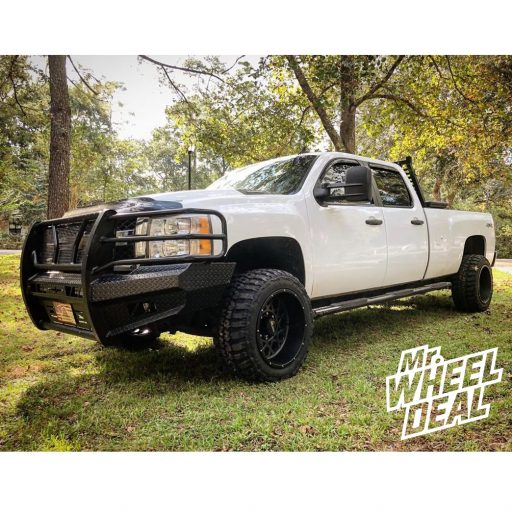 "20x12"" Vision Rocker Gray Black wheels with 33X12.50R20LT Federal Couragia MT tires with a ReadyLift 3.5"" Lift Kit on a 2012 Chevrolet Silverado 2500 HD"