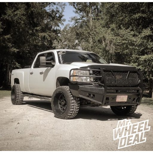 "2012 Chevrolet Silverado 2500 HD with 20x12 Vision Rocker -51mm Gray Black wheels and 33X12.50R20LT Federal Couragia MT tires with a ReadyLift 3.5"" Lift Kit"