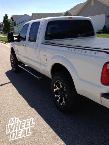 20x9 Fuel Offroad Dune Wheels with 35X12.50R20 Nitto Trail Grappler Tires on a Ford F-250