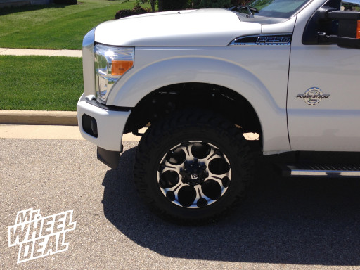 20x9 Fuel Offroad Dune Wheels with 35X12.50R20 Nitto Trail Grappler Tires on a 2014 Ford F-250