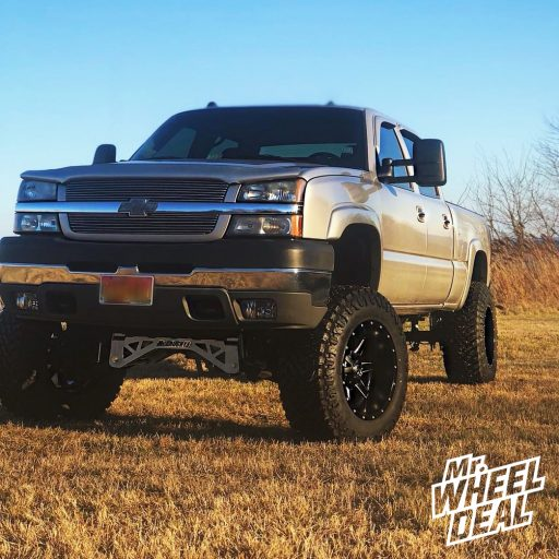 2004 Chevy Silverado 2500 with 20x12 Fuel Offroad Maverick -44mm Black wheels with 37x13.50R20LT Atturo Trail Blade MT tires