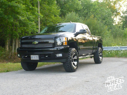 LT295/70/18 Nitto Trail Grappler tires with 18x9 Dick Cepek DC-2 wheels on a 2010 Chevy Silverado 1500