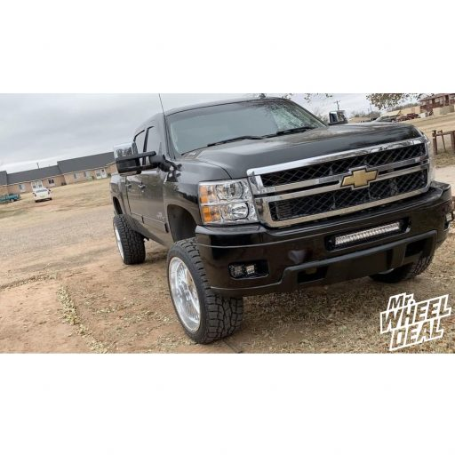 2011 Chevy Silverado 2500HD with 22x12 American Force Octane SS Polished wheels and 33x12.50R22LT Toyo Open Country AT II tires