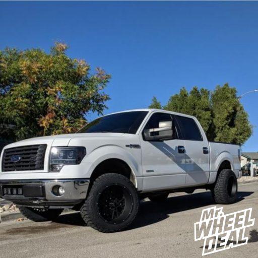 "2013 Ford F-150 with 20x12"" Black Vision Rocker -51mm wheels and 33x12.50R20LT E Haida HD878 RT tires"