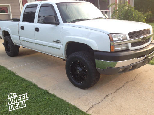 Dropstars 645B Satin Black Wheels with Milled Accents 18x9 on a 2003 Chevy Silverado 2500HD