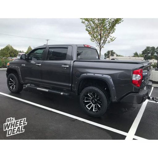 """2015 Toyota Tundra with 20x10"""" Vision Rebel -25mm Black Milled wheels and 275/60R20 Cooper Discoverer AT3 tires"""