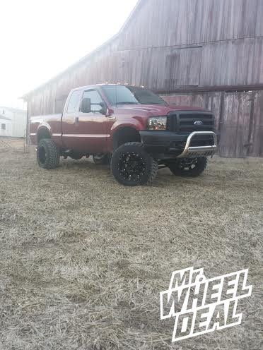 "20x12"" Fuel Off-Road Hostage Wheels with 35x12.50x20 Nitto Trail Grappler Tires on a Ford F-250"