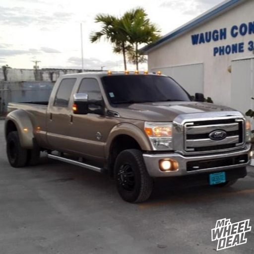 2011 Ford F-350 Super Duty with 17x6.5 Ultra Predator Dually 129mm Black wheels and 245/75R17 Nexen Roadian AT PRO RA8 tires