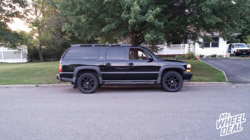 2005 Suburban 1500 with 20x9 Raceline 991B Assault Black Wheels with 33X12.50R20 Federal Couragia MT Tires