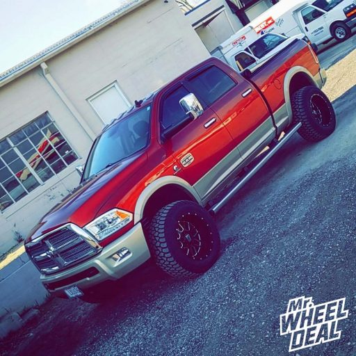 2013 Ram 2500 with 20x12 XD Grenade Black Milled wheels and LT35X12.50R20 AMP Terrain Gripper AT G tires