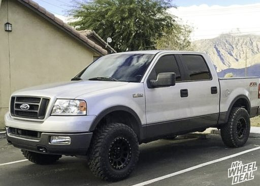 2005 Ford F-150 with 17x8.5 0mm Black Method NV wheels and LT295/70R17 Toyo Open Country MT tires