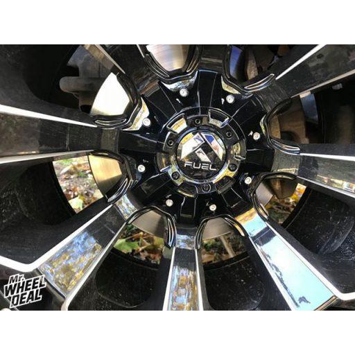 """20x10"""" Fuel Assault -18mm Gloss Black wheels"""