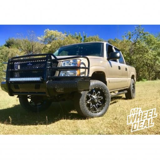 20x9 Fuel Offroad Lethal Black wheels with P275/60R20 Toyo Open Country AT II tires on a 2004 Chevy Silverado 1500