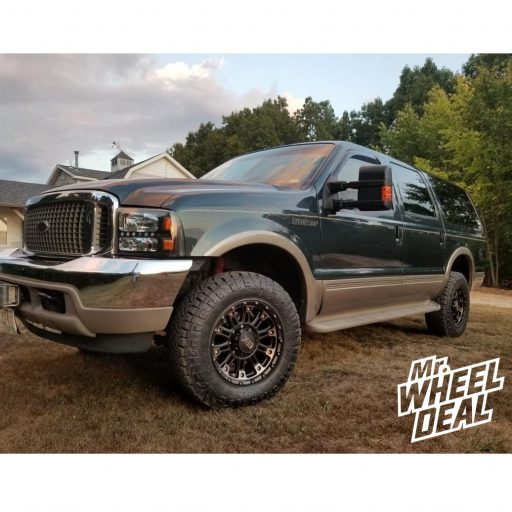 2001 Ford Excursion with 18x9 XD829 Hoss 2 Black Tint wheels with LT275/70R18 Nitto Ridge Grappler tires