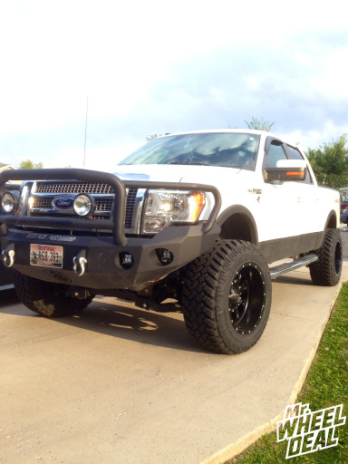 20x12 Fuel Krank wheels with 35x12.50x20 Nitto Trail Grappler MT tires on a 2010 Ford F-150